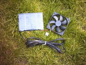 Solar panel and 12cm fan kit for solar ventilation